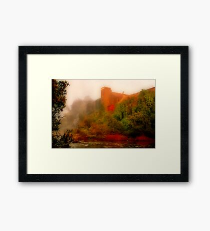 """Morning Mist at the Mill"" Framed Print"