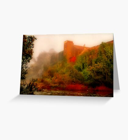 """""""Morning Mist at the Mill"""" Greeting Card"""