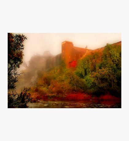 """Morning Mist at the Mill"" Photographic Print"