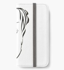Abstract sketch of face X iPhone Wallet/Case/Skin