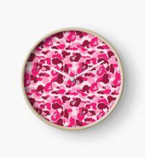 camo pink bape Clock