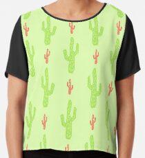 Patrón de cactus verde y rojo Blusa