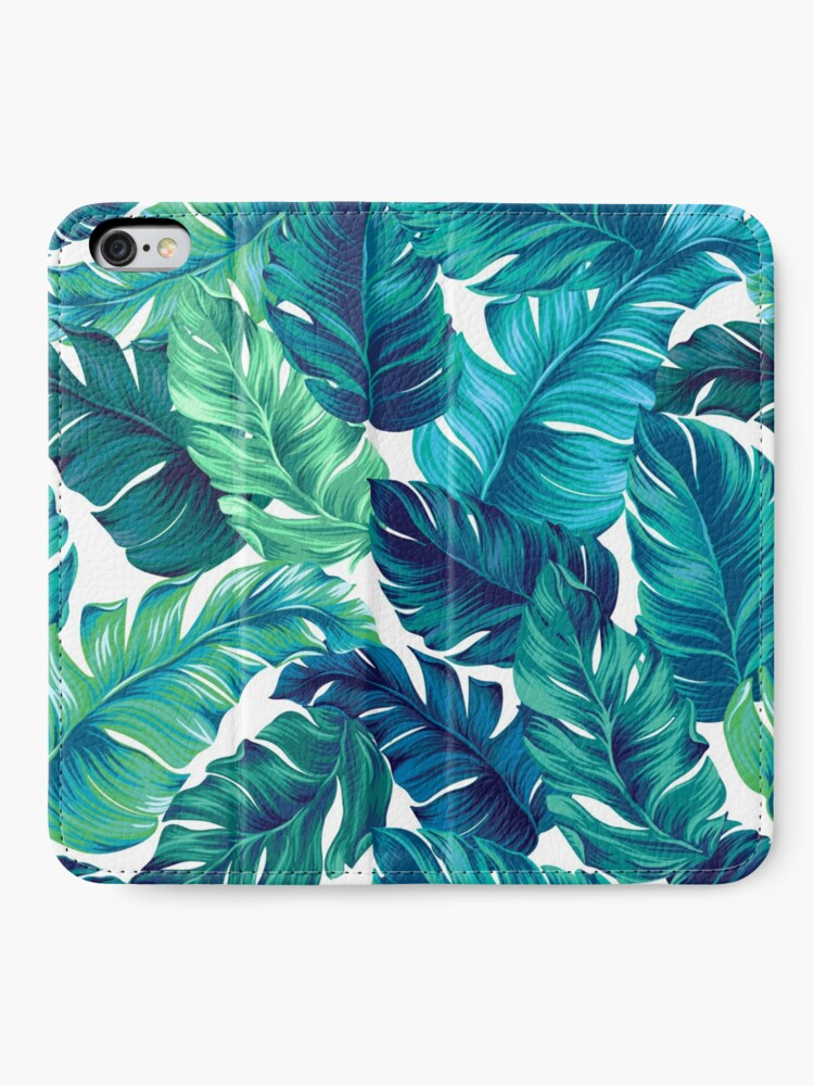 Alternative Ansicht von Flippiges Bananenblattmuster. iPhone Flip-Case