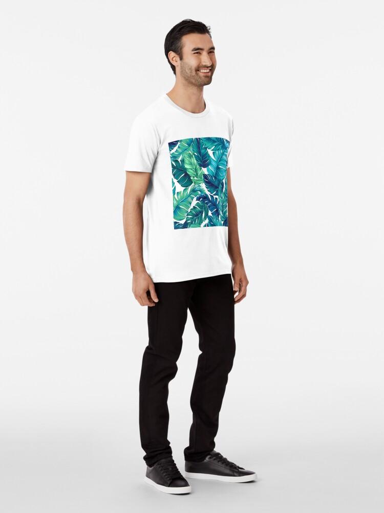 Alternative Ansicht von Flippiges Bananenblattmuster. Premium T-Shirt