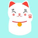 «Lucky gato japonés feliz» de EuGeniaArt