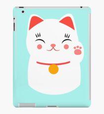 Lucky gato japonés feliz Vinilo o funda para iPad