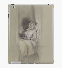 Figure Study of a woman lying in a box bed, eating from a bowl, David Bles, 1888 iPad Case/Skin