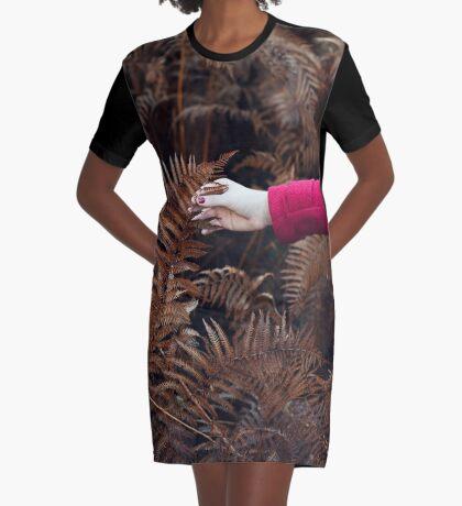 Herbst Gefühl T-Shirt Kleid