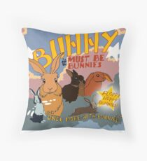 Once more with Bunnies Throw Pillow