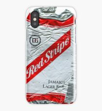 Red Stripe - Crushed Tin iPhone Case