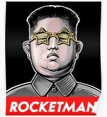 Rocketman Donald Trump Kim Jong-Un Rocket Man T Shirt Poster