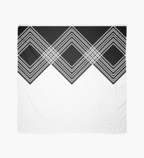 Abstract geometric pattern - black and white. Scarf