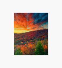 Autumn in North Carolina Art Board