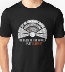 I play CLARINET. Exclusive design for CLARINETISTS! T-Shirt