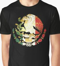 Golden Mexican Coat Of Arms Graphic T-Shirt
