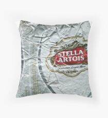 Stella Artois - Crushed Tin Throw Pillow