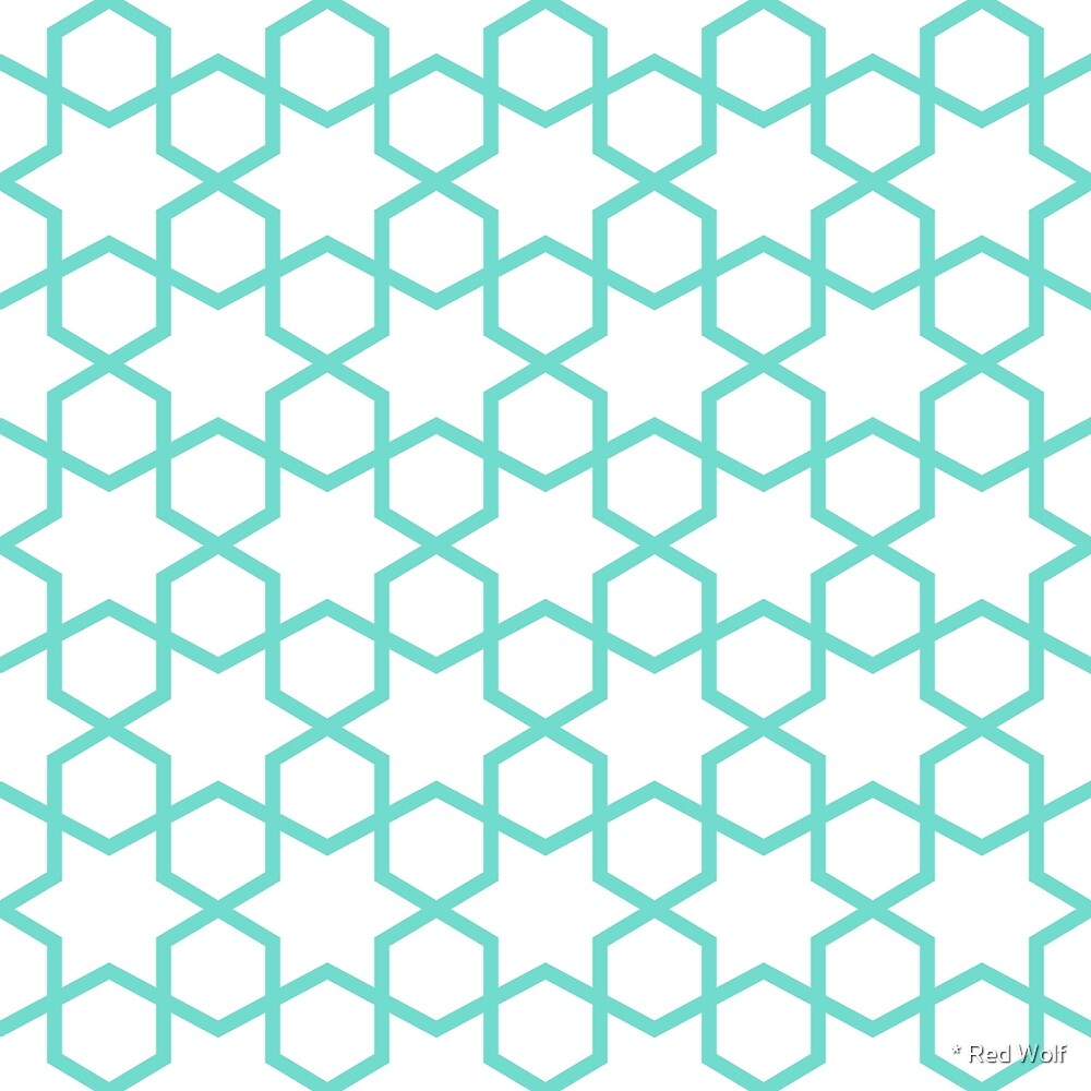 Geometric Pattern: Star Hexagon: Blue by * Red Wolf