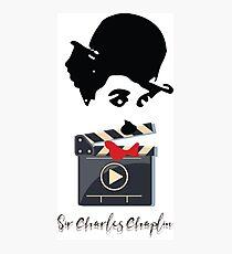 Sir Charlie Chaplin Portrait Art Photographic Print