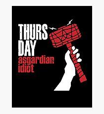 Asgardian Idiot Photographic Print