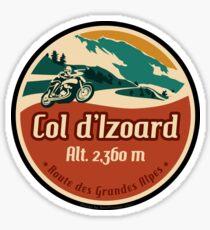 Col d'Izoard 01 Motorrad T-Shirt + Aufkleber - Route des Grandes Alpes Sticker
