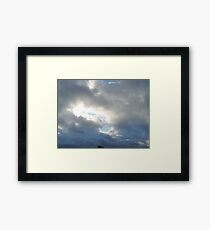 Clouded Sky - Shining Through Framed Print