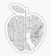 New York New York Big Apple Sticker