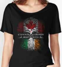 Canadian Grown with Irish Roots Women's Relaxed Fit T-Shirt
