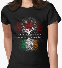 Canadian Grown with Irish Roots Women's Fitted T-Shirt