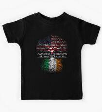 American Grown with Irish Roots Kids Tee