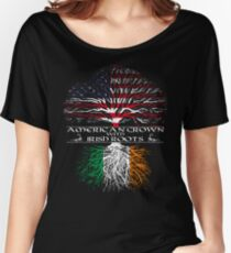American Grown with Irish Roots Women's Relaxed Fit T-Shirt