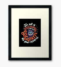 the detective series Framed Print