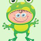 Nice girl wearing a Halloween frog costume by Zoo-co