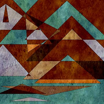 Turquoise and Bronze Triangle Pattern with Copper by Jessielee72