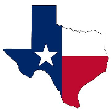 TEXAS, TEXAS FLAG, STATE OUTLINE, America, American, USA, US by TOMSREDBUBBLE