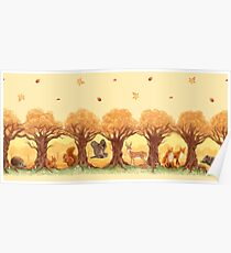 Sunny Forest Animals Poster