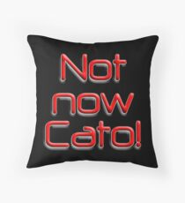 Not now, Cato! Cato Fong, Inspector Clouseau, Film, Burt Kwouk, Chinese manservant, Pink Panther Throw Pillow