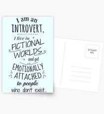 introvert, fictional worlds, fictional characters Postcards