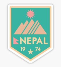Retro Nepal badge/patch Sticker