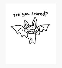 Are You Scared? - Halloween Bat Costume Photographic Print