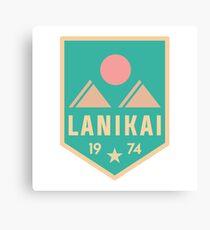 Retro Lanikai Patch Canvas Print