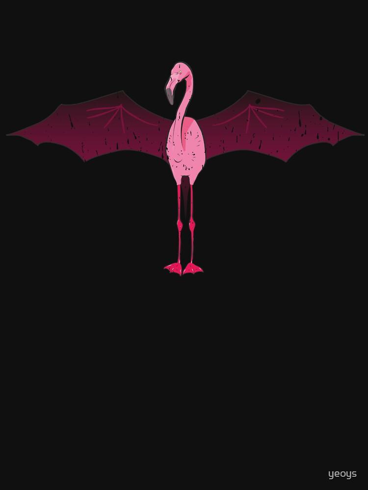 Pink Comic Style Halloween Flamingo Bat Mashup von yeoys