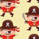 Brave boy wearing a Halloween pirate costume by Zoo-co