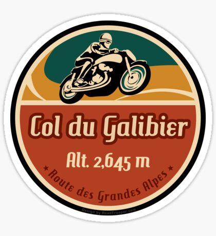 Route des Grandes Alpes France Motorcycle T-Shirt Sticker - Col du Galibier 1 Sticker