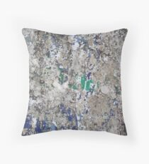 Ready Made Collage from a street India Throw Pillow