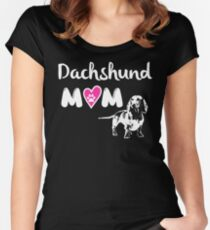 Dachshund Mom Women's Fitted Scoop T-Shirt
