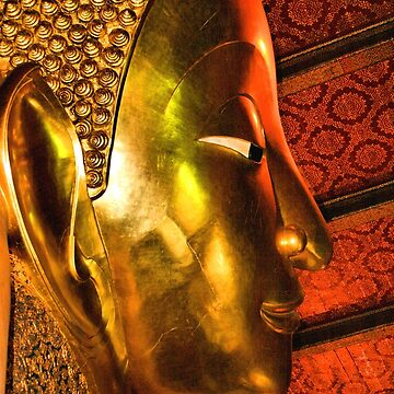 Portrait: The Reclining Buddha, Wat Pho, Bangkok, Thailand by Carole-Anne