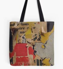 ready made collage from Paris metró- Pink and yellow signed Tote Bag