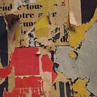 ready made collage from Paris metró- Pink and yellow signed by dhyano