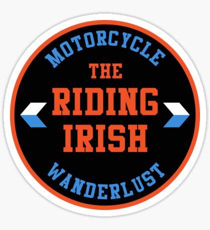 Motorcycle Wanderlust T-Shirt Sticker - The Riding Irish T-Shirt  Sticker