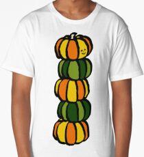 Helloween Pumpkins Totem Pole Long T-Shirt